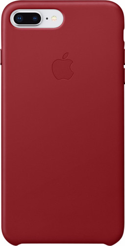 Apple iPhone 7 Plus/8 Plus Leather Back Cover Rood Main Image