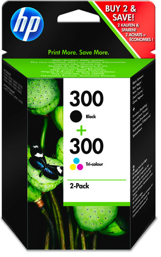 HP 300 Cartridge Black + Combo Pack Tri-color (CN637EE) Main Image