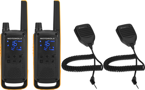 Motorola Talkabout T82 EXTREME Twin Pack + handheld microphone Main Image