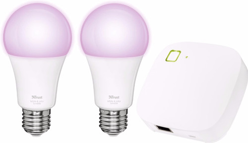 Trust Smart Home White and Color E27 Duopack + Z1 Bridge Main Image