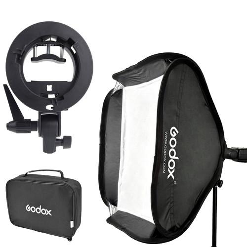 Godox S-type Bracket Bowens incl. Softbox 40x40cm Main Image