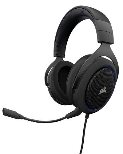 Corsair HS50 Stereo Gaming Headset Blauw Main Image