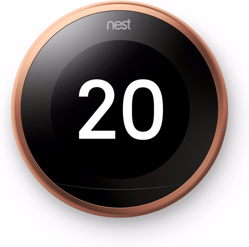 Google Nest Learning Thermostat V3 Premium Koper met installatie Main Image