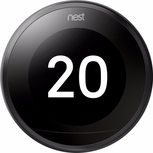 Google Nest Learning Thermostat V3 Premium Zwart met installatie Main Image