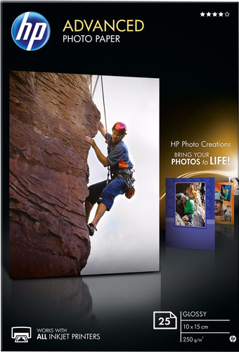 HP Advanced Glossy Fotopapier 25 vel 10 x 15 cm Main Image