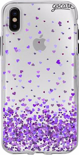 GoCase TPU Apple iPhone X Back Cover Purple Love Main Image