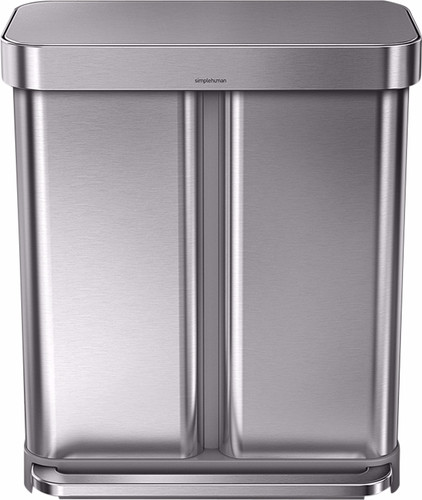 Simplehuman Rectangular Liner Pocket  GFT 24+34 Liters Stainless Steel Main Image