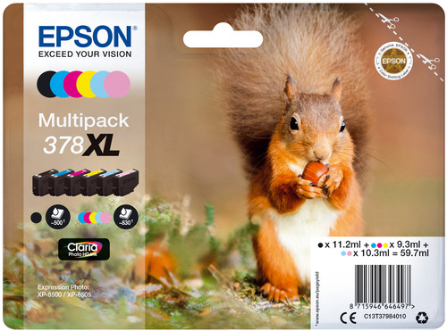 Epson 378XL 6-Color Pack (C13T37984010) Main Image