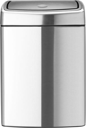 Brabantia Touch Bin Rechthoekig 10 Liter Matt Steel Fingerprint Proof Main Image