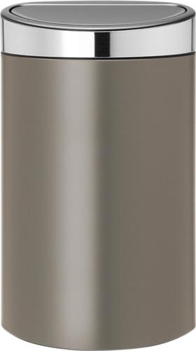 Brabantia Prullenbak 40 Liter.Brabantia Touch Bin 40 Liter Platinum Matt Steel Deksel