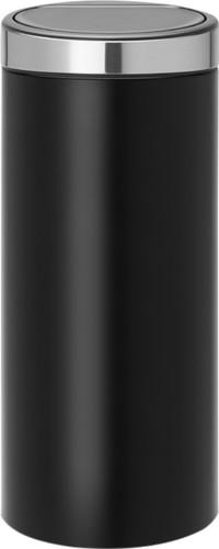 Brabantia Touch Bin Afvalverzamelaar 30 Liter.Brabantia Touch Bin 30 Liter Black Rvs