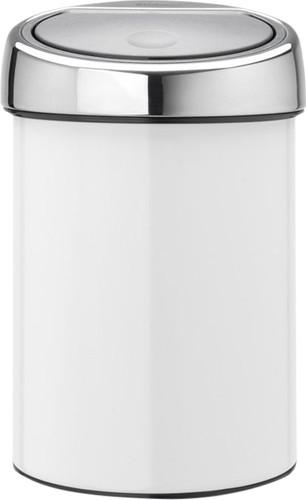 Brabantia Touch Bin 3 Liter Wit Main Image
