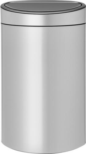 Brabantia Vuilnisbak 40 Liter.Brabantia Touch Bin 40 Liter Metallic Grey