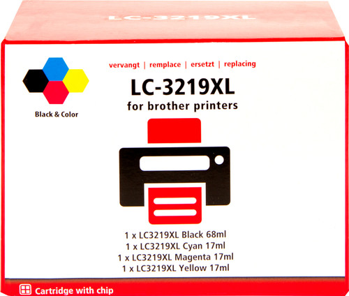 Pixeljet LC-3219XL 4-Color Pack for Brother (LC-3219XL) Main Image