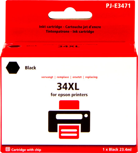 Pixeljet 34XL Zwart voor Epson (C13T34614010) Main Image