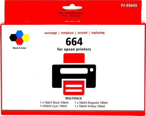 Pixeljet T66 4-Kleuren Pack voor Epson EcoTank Main Image