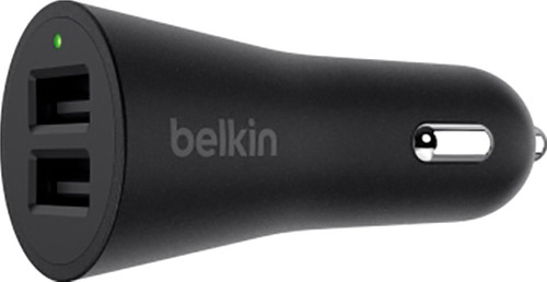 Belkin Car Charger Dual Usb 24w Black