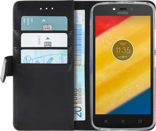 Azuri Wallet Magnetic Motorola Moto C Plus Book Case Black Main Image