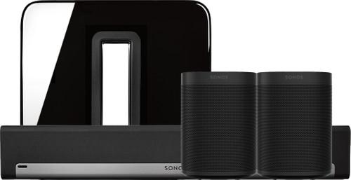 Sonos Playbar 5.1 + One (x2) + Sub Black Main Image