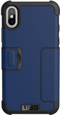 UAG Metropolis Cobalt Apple iPhone X Book Case Blue Main Image