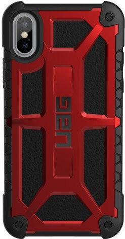 UAG Monarch Crimson Apple iPhone X Back Cover Rood Main Image