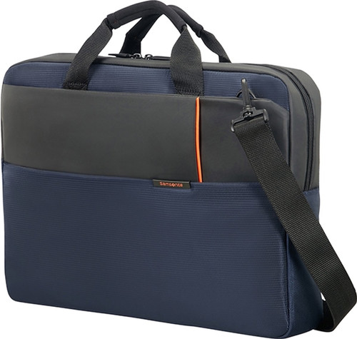 "Samsonite Qibyte Shoulder Bag 15.6"" Blue Main Image"