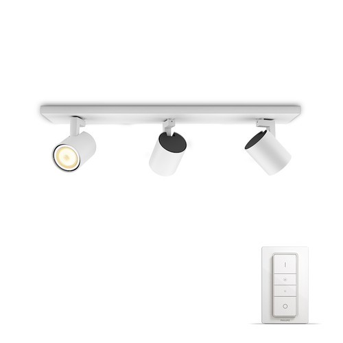 Philips Hue Runner Mounted Spot White Ambiance 3 Lights White Bluetooth Main Image