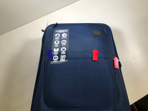Second Chance Princess Traveller Colombo Expandable Spinner 65cm Blue