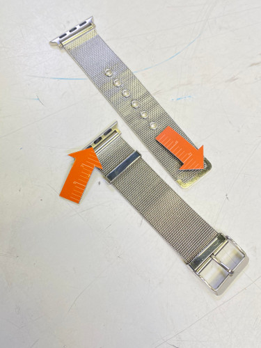 Second Chance Just in Case Apple Watch 38/40mm Milanese Strap Silver