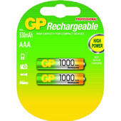GP Rechargeable AAA 1000 Series 2 pack
