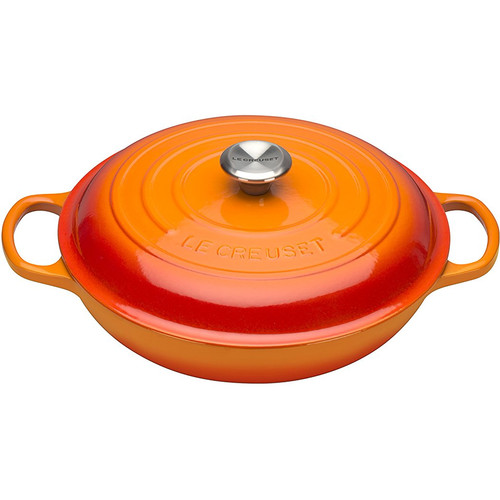 Le Creuset Campagnard Lage Braadpan 30 cm Oranje-rood
