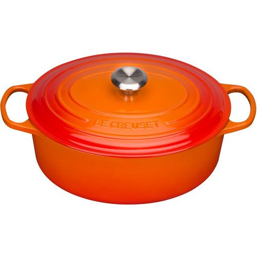 Le Creuset Ovale Braadpan 27 cm Oranje-rood