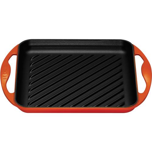 Le Creuset Gietijzeren Grill 33 cm Oranje-rood