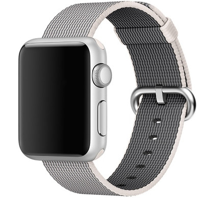 Apple Watch 38mm Polsband Nylon Parelgrijs