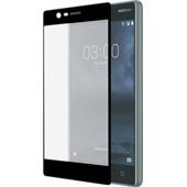 Azuri Edge to Edge Nokia 3 Screenprotector Glas Zwart