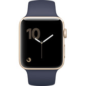 Apple Watch Series 1 42mm Goud Aluminium/Middernachtblauwe Sportband