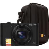Starterskit - Sony CyberShot DSC-WX500 Zwart + Tas + Kaart
