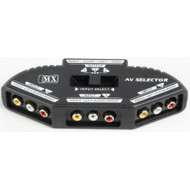 Compact 3-way Audio/Video Selector