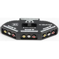Compact 3-way Audio/Video Selector