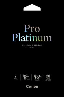 Canon PT-101 Pro Platinum Fotopapier 20 Vel 10 x 15 cm