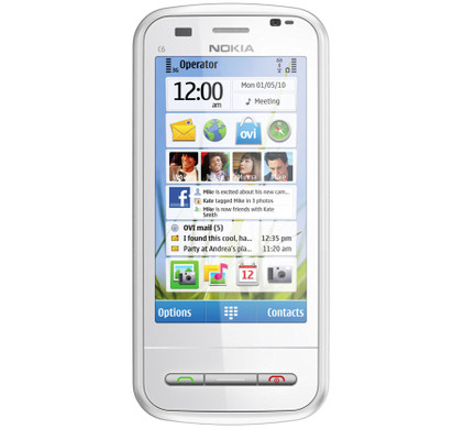 Nokia C6-00 White QWERTY