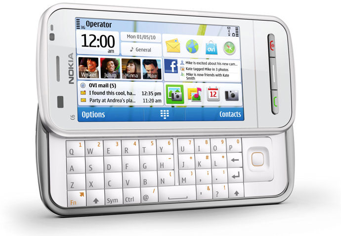 Nokia C6-00 White QWERTY