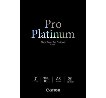 Canon PT-101 Pro Platinum Fotopapier 20 Vellen A3