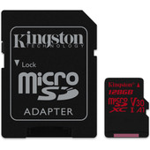 Kingston microSDXC Canvas React 128GB 100 MB/s + SD Adapter