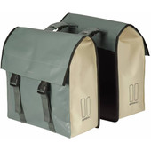 Basil Urban Load Double Bike Bag 53L Green/White