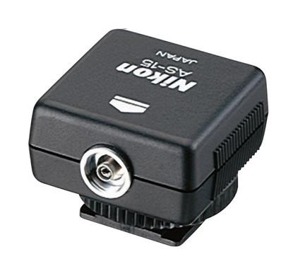 Nikon AS-15 flitsschoenadapter kabel/ISO