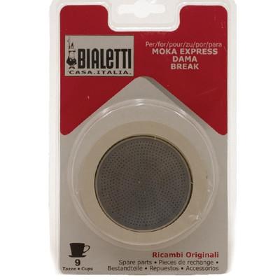 Bialetti Filterplaatje + Rubber Ring 9 kopjes