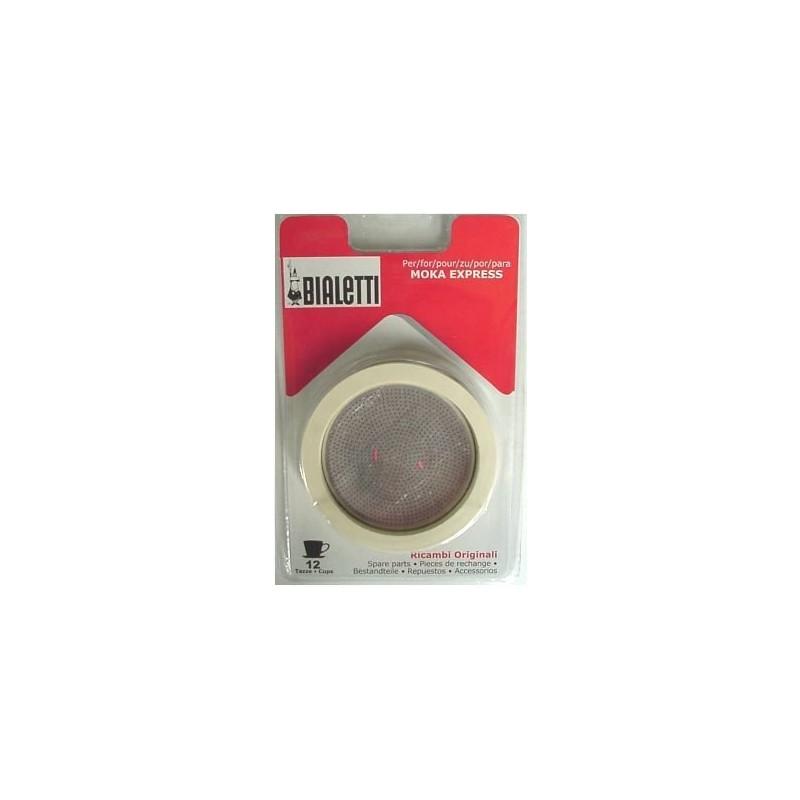 Bialetti Filterplaatje + Rubber Ring 12 Kopjes