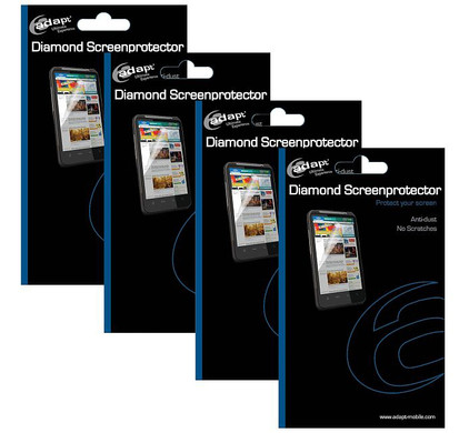 Muvit Screenprotector Apple iPhone 4 Four Pack