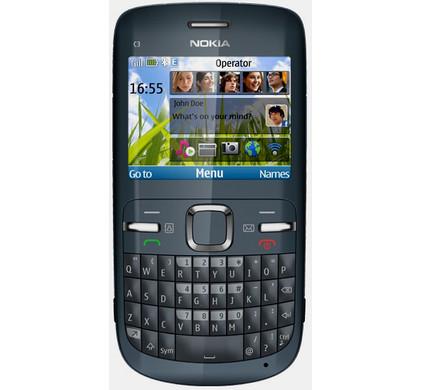 Nokia C3-00 Grey QWERTY Vodafone Prepaid